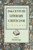 Cover of: Twentieth Century Literary Criticism by D LODGE