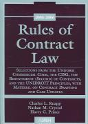 Cover of: Rules Of Contract Law by Knapp