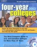 Cover of: Four Year Colleges 2003 | Petersons Publishing