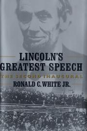 Cover of: Lincoln's greatest speech | Ronald C. White