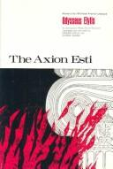 Cover of: The Axion Esti | Odysseas Elytis