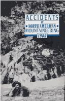 Cover of: Accidents in North American Mountaineering 1989 | John E. Williamson