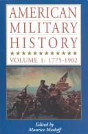 Cover of: American Military History by Maurice Matloff