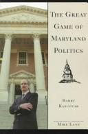 Cover of: The Great Game of Maryland Politics by Barry Rascovar