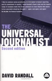 Cover of: The Universal Journalist by David Randall