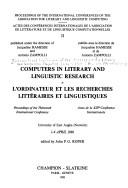 Cover of: Computers in literary and linguistic research by International Conference of the Association for Literary and Linguistic Computing (13th 1986 University of East Anglia)