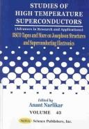 Cover of: Bsco Tapes and More on Josephson Structures and Superconducting Electronics (Studies of High Temperature Superconductors) | Anant V. Narlikar