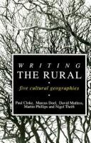 Cover of: Writing the Rural | Martin Phillips