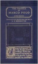 Cover of: Travels of Marco Polo (1254-1324) | L.F. Benedetto