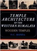 Cover of: Temple Architecture of the Western Himalaya | O.C. Handa