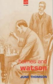 Cover of: Holmes and Watson (A&B Crime) by June Thomson