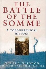 Cover of: The battle of the Somme | Gerald Gliddon