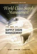 Cover of: World Class Supply Management by David Burt