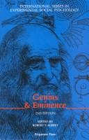 Cover of: Genius and Eminence by Robert Albert