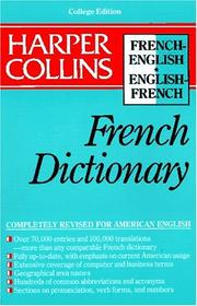 Cover of: Harper Collins French Dictionary/French-English English-French | Harper Collins Publishers