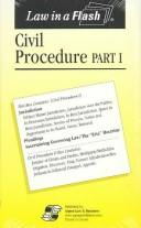 Cover of: Civil Procedure I Law in a Flash (flashcards) | Lazar Emanuel