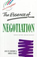 Cover of: Essence of Negotiation by Jean-Marie Hiltrop