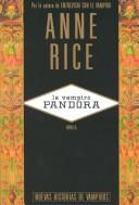 Cover of: La Vampiro Pandora by Anne Rice