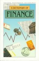 Cover of: A Dictionary of Finance (Oxford Reference) | Market House Books