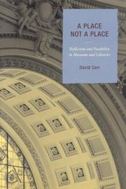 Cover of: A Place Not a Place | David Carr