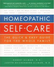Cover of: Homeopathic self-care | Robert Ullman