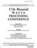 Cover of: Proceedings of the 17th Biennial Waste Processing Conference | National Waste Processing Conference (17th 1996 Atlantic City, N.J.)