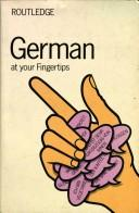 Cover of: German at Your Fingertips | E. Baruch