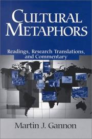 Cover of: Cultural Metaphors by Martin J. Gannon