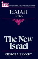 Cover of: The new Israel by George Angus Fulton Knight