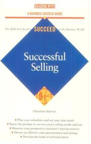 Cover of: Successful selling by Christine Harvey
