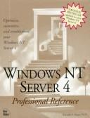 Cover of: Windows Nt Server 4 Professional Reference | New Riders Development