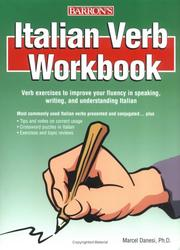 Cover of: Italian verb workbook | Marcel Danesi
