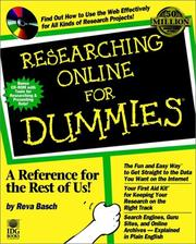 Cover of: Researching online for dummies by Reva Basch
