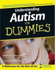 Cover of: Understanding autism for dummies | Stephen M. Shore