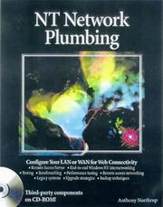 Cover of: NT Network Plumbing | Tony Northrup