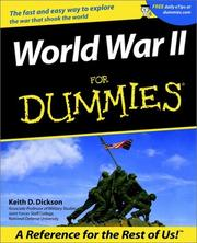 Cover of: World war II for dummies by Keith D. Dickson