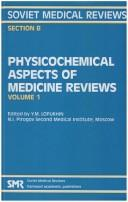 Cover of: Physiochemical Aspects of Medicine Reviews | Yu.m. Lopukhin
