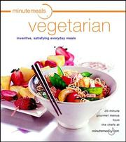 Cover of: Minutemeals vegetarian | Evie Righter