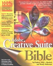 Cover of: AdobeCreative Suite Bible | Kelly L. Murdock