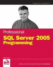 Cover of: Professional SQL Server 2005 Programming (Programmer to Programmer) | Robert Vieira