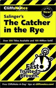 Cover of: CliffsNotes Salinger's The catcher in the rye by Stanley P. Baldwin