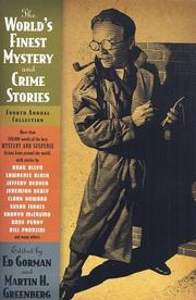 Cover of: The World's Finest Mystery and Crime Stories by Martin H. Greenberg