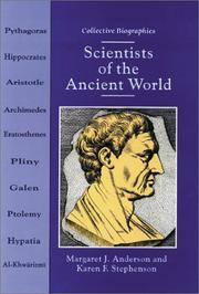 Cover of: Scientists of the Ancient World by Margaret Jean Anderson, Margaret J. Anderson