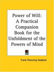 Cover of: Power of Will | Frank Channing Haddock