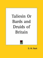 Cover of: Taliesin or Bards and Druids of Britain by David William Nash