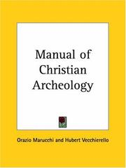 Cover of: Manual of Christian Archeology | Orazio Marucchi