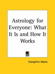 Cover of: Astrology for Everyone | Evangeline Adams