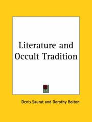 Cover of: Literature and Occult Tradition | Denis Saurat