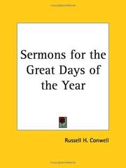Cover of: Sermons for the Great Days of the Year | Russell Herman Conwell