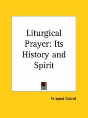 Cover of: Liturgical Prayer | Fernand Cabrol